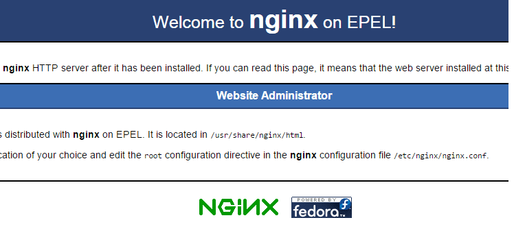 Test Page for the Nginx HTTP Server on EPEL