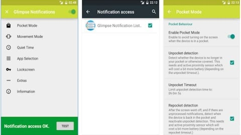 Glimpse Notifications Android Uygulaması ve Özellikleri