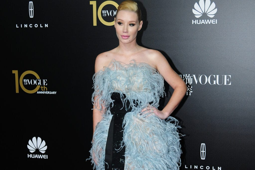SHANGHAI, CHINA - OCTOBER 27: (CHINA OUT) Singer Iggy Azalea attends Vogue China gala dinner at Shanghai Exhibition Center on October 27, 2015 in Shanghai, China. (Photo by ChinaFotoPress/ChinaFotoPress via Getty Images)