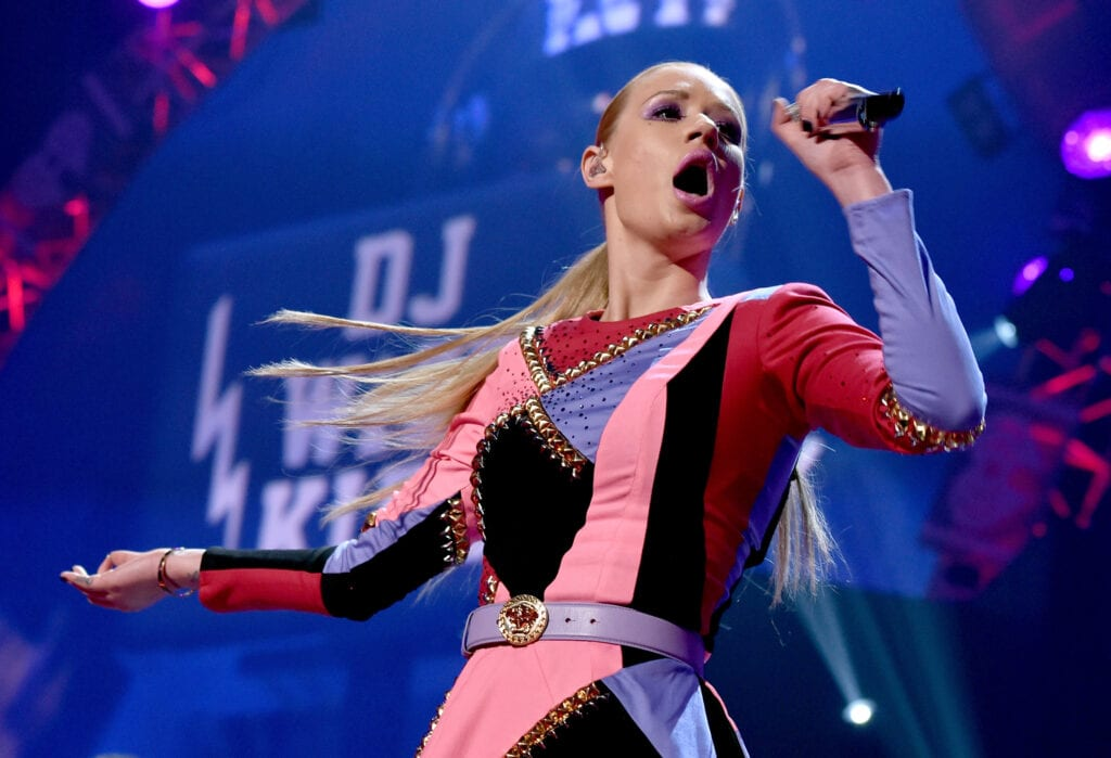 LAS VEGAS, NV - SEPTEMBER 20: Recording artist Iggy Azalea performs onstage during the 2014 iHeartRadio Music Festival at the MGM Grand Garden Arena on September 20, 2014 in Las Vegas, Nevada. (Photo by Kevin Winter/Getty Images for iHeartMedia)