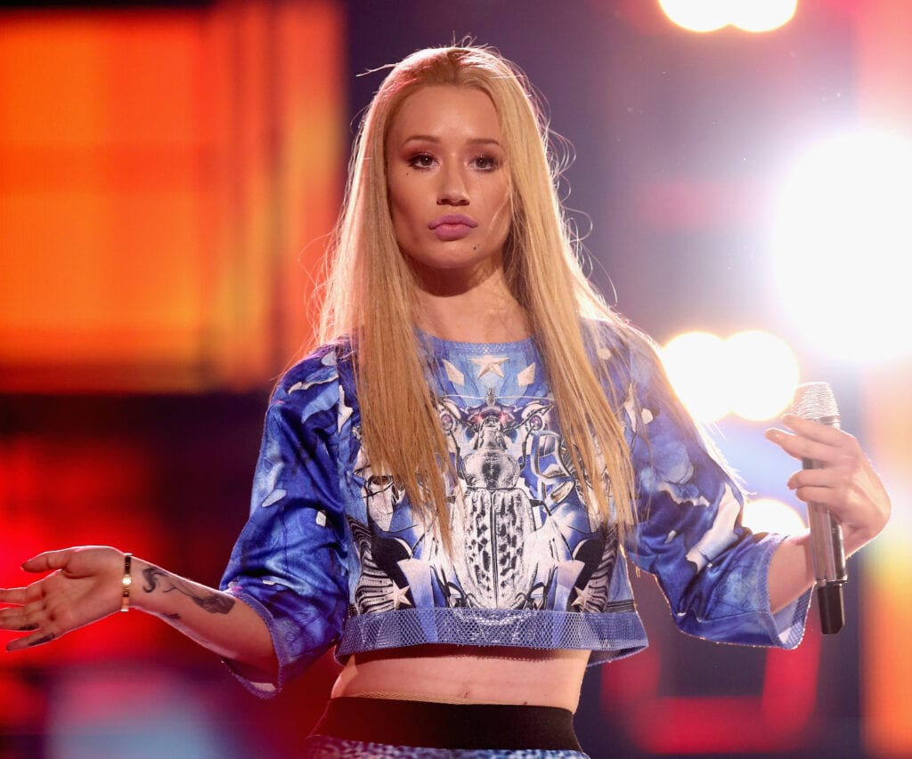 SANTA MONICA, CA - OCTOBER 08: Recording artist Iggy Azalea performs onstage during the Vevo CERTIFIED SuperFanFest presented by Honda Stage at Barkar Hangar on October 8, 2014 in Santa Monica, California. (Photo by Jason Kempin/Getty Images for VEVO)