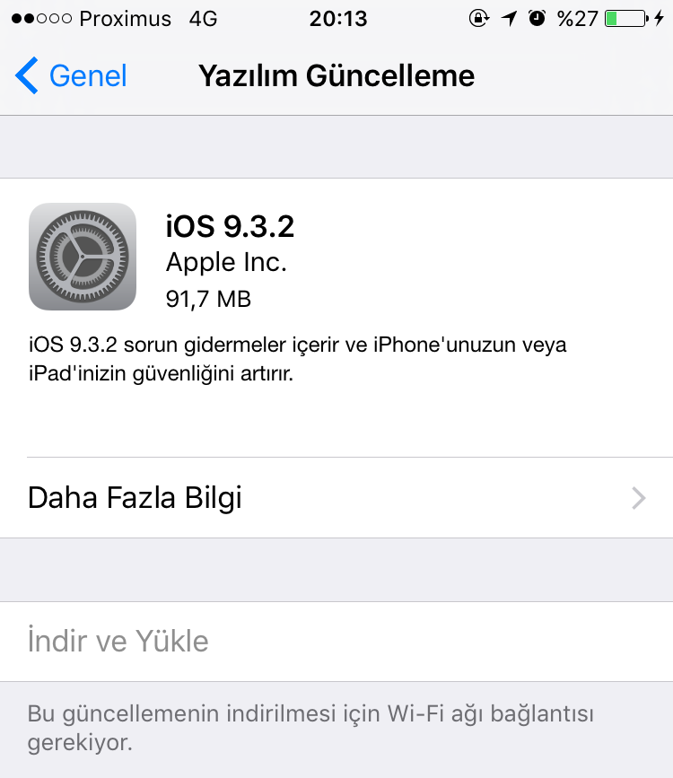 IMG 0506 e1463423467280 Apple iOS 9.3.2 güncellemesini yayınlandı Apple  iPod touch 5 iPhone SE İphone 6s plus İphone 6s iPhone 6 Plus İphone 6 iPhone 5s iPhone 5c iPhone 5 iPhone 4s iPad Pro iPad mini 4 iPad mini 3 iPad mini 2 iPad mini iPad Air 2 iPad Air iPad 4 iPad 3 iPad 2 iOS güncellemesi iOS güncelleme iOS 9.3.2 iOS Apple iOS