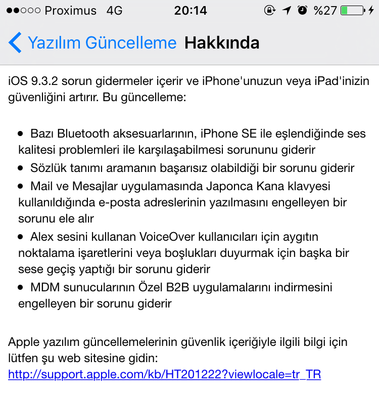 IMG 0507 e1463423945913 Apple iOS 9.3.2 güncellemesini yayınlandı Apple  iPod touch 5 iPhone SE İphone 6s plus İphone 6s iPhone 6 Plus İphone 6 iPhone 5s iPhone 5c iPhone 5 iPhone 4s iPad Pro iPad mini 4 iPad mini 3 iPad mini 2 iPad mini iPad Air 2 iPad Air iPad 4 iPad 3 iPad 2 iOS güncellemesi iOS güncelleme iOS 9.3.2 iOS Apple iOS