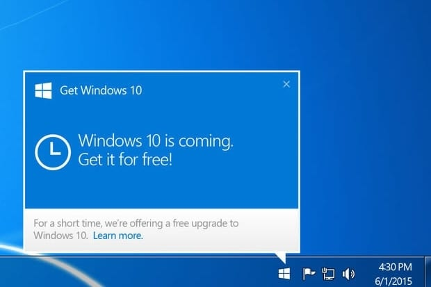 get windows 10 free upgrade icon 100588298 primaryidge 1467106433 Microsoft Windows 10 Güncellemesi Yüzünden Cezaya Çarptırıldı Teknoloji  windows 8 Windows 7 Windows 10 Güncellemesi Tazminat windows 10 güncellemesi Windows 10 Güncellemeleri Windows 10 Windows microsoft
