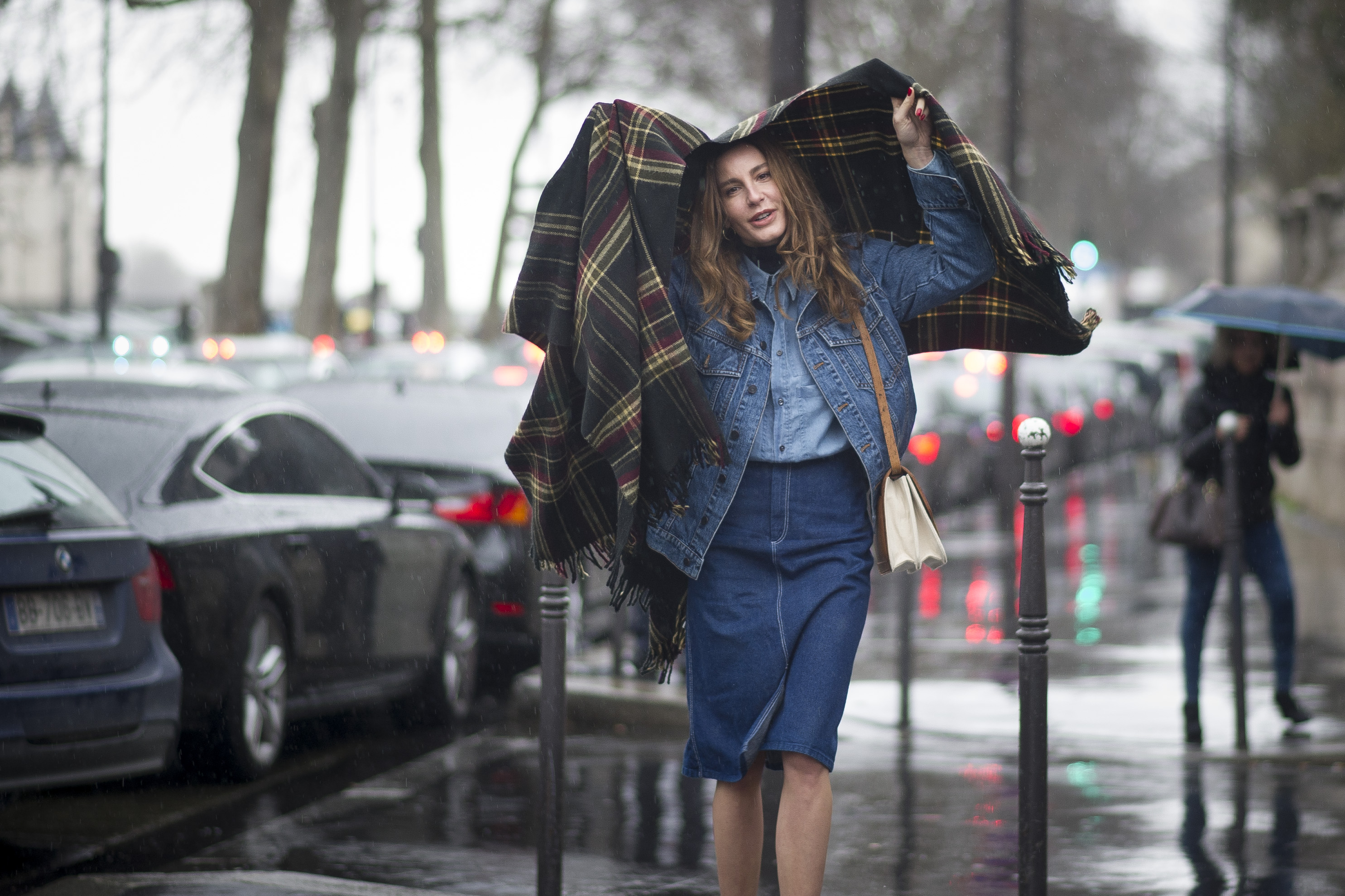 PARIS, FRANCE - FEBRUARY 27:  Ece Sukan seen outside the Balmain show on February 27, 2014 in Paris, France.  (Photo by Timur Emek/Getty Images)