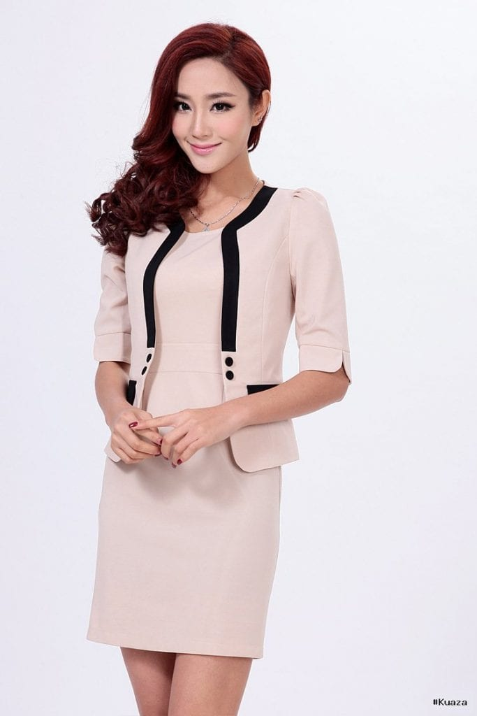 2014 new Slim plus size ol career professional dress women's …