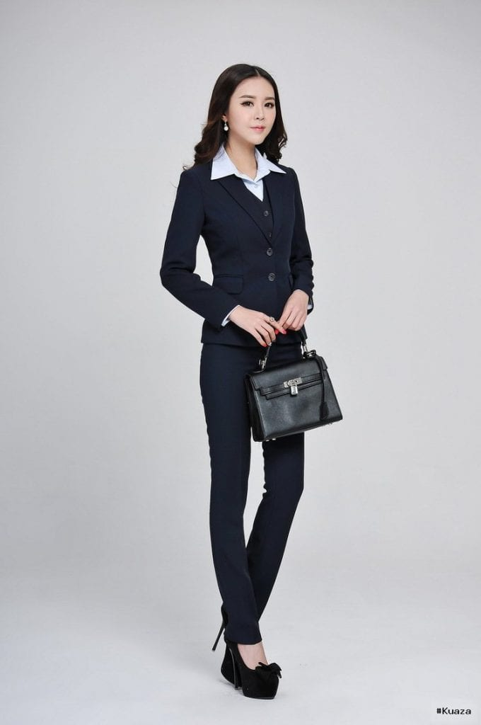 Spring 2015 Womens Business Formal Office Pant Suit Blazer …